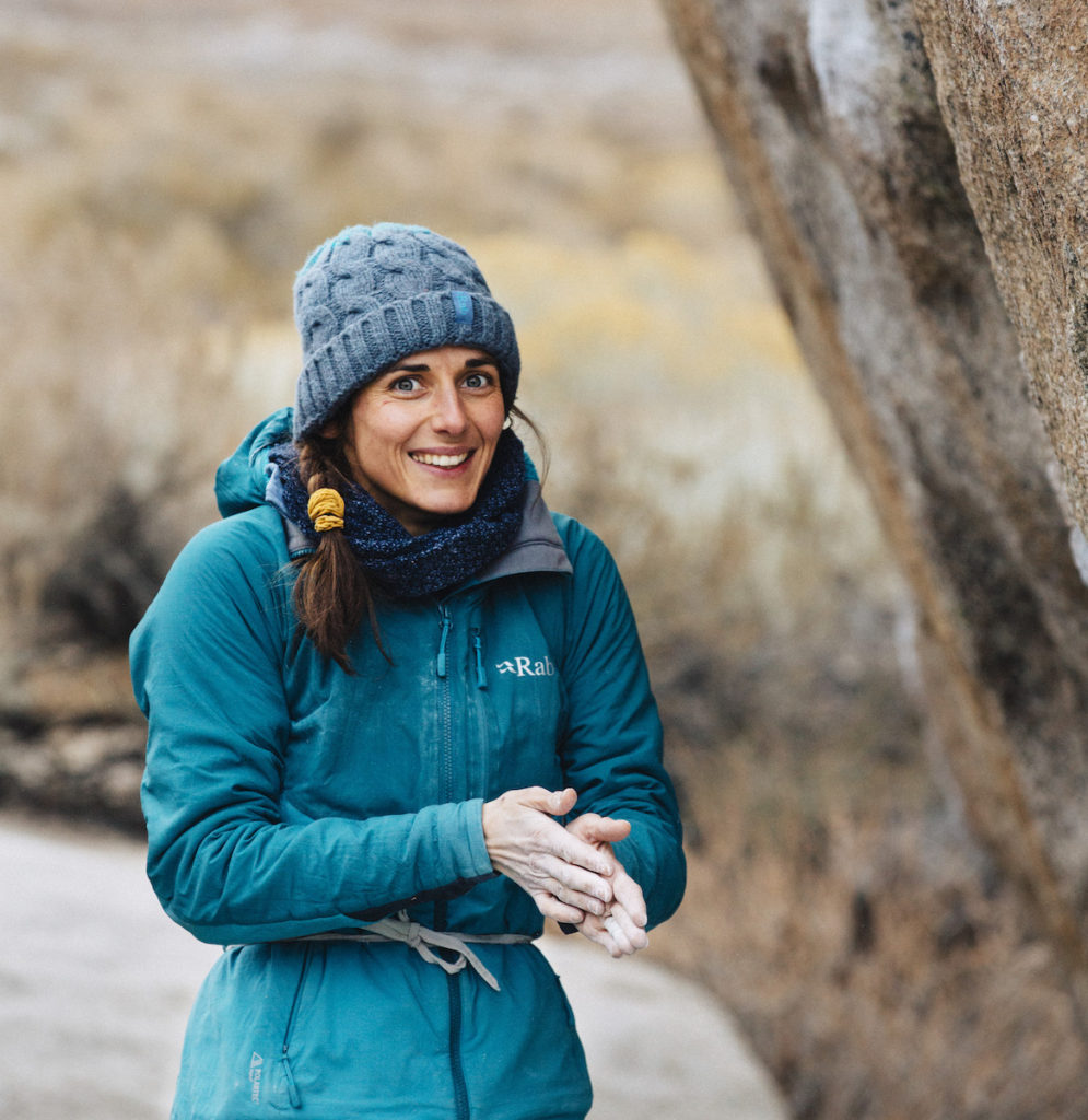 Alizée Dufraisse in Bishop, California. Photo: Alex Aristei.