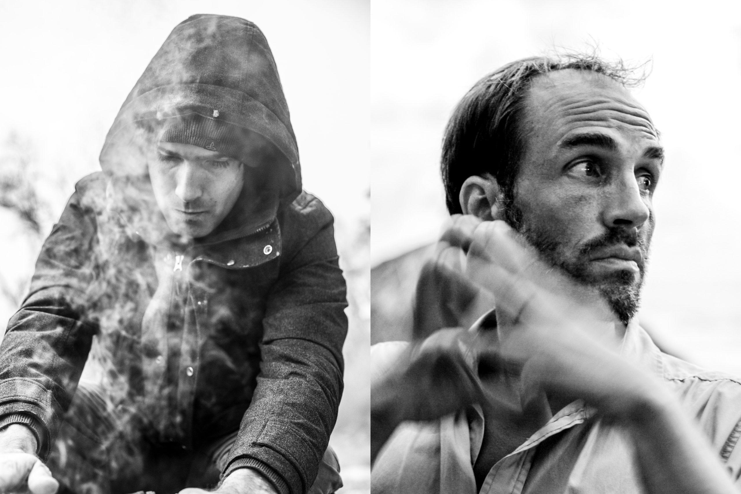 Rock climbers Chris Sharma and Boone Speed
