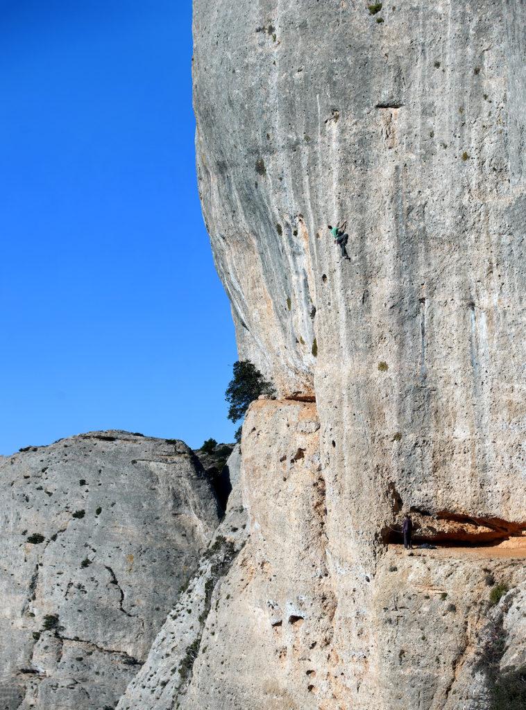 Rock climbing in Montsant, Tarragona, Spain