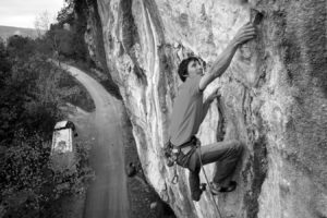 Slovenian rock climber Klemen Becan in Croatia