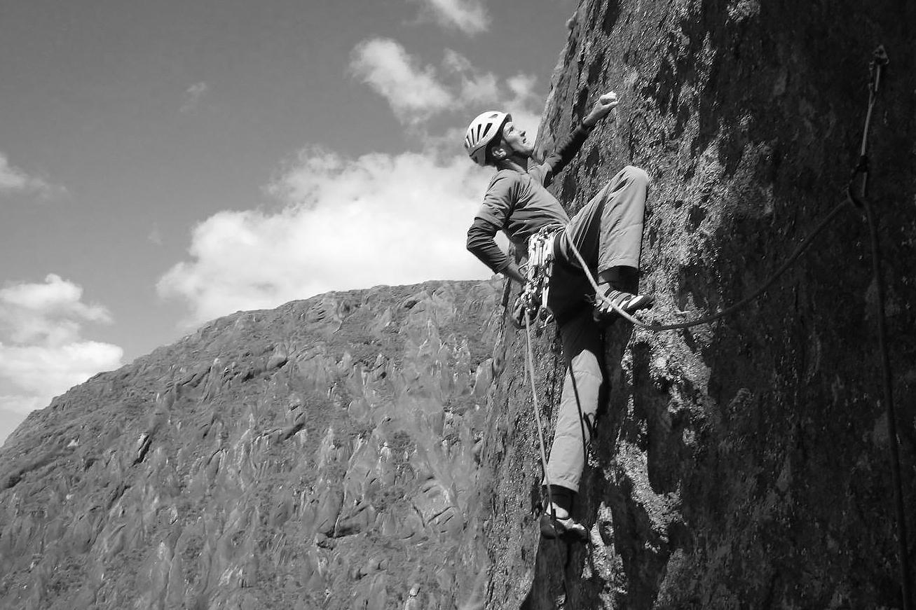 Climbing guidebook author Pete O'Donovan.